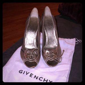 Givenchy Gold Metallic Heels